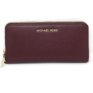 Michael Kors leather red wallet
